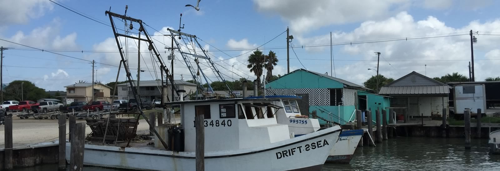 Seadrift Texas Harbor and Shrimp boat
